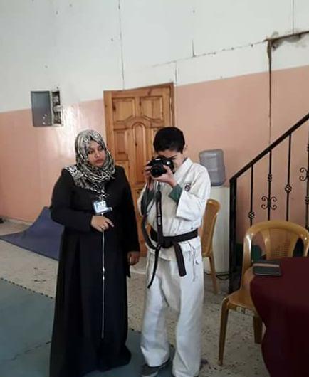 "Photo of ""ياسين طبيل ""لاعب يسير على نهج نجوم الكاراتيه"