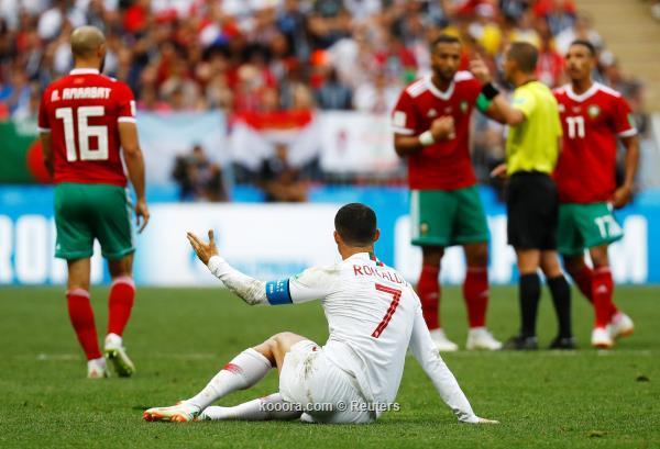 رونالدو ضد المغرب