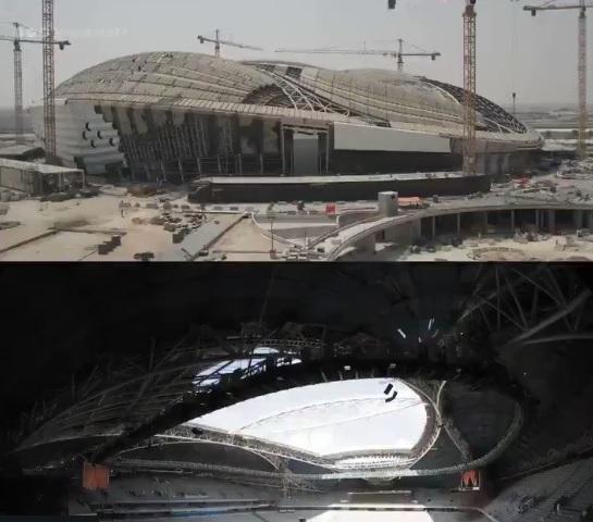 Photo of فيديو: استاد الوكرة القطرى يسابق الزمن لتشيده لاستقبال كأس العالم