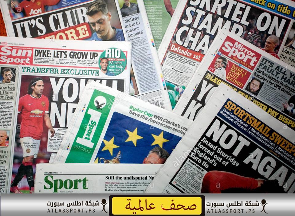 Photo of عناوين الصحف العالمية الرياضية