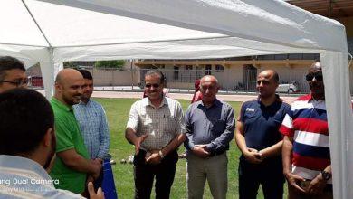 Photo of نائب رئيس بلدية غزة يتفقد المشاركين في دورة العاب القوى